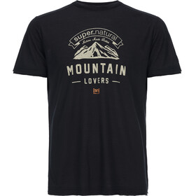 super.natural M's Graphic Tee Jet Black/Mountain Lovers Logo